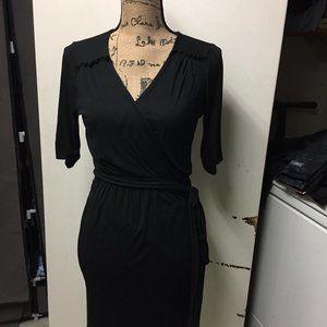 Banana Republic Wrap Little Black Dress